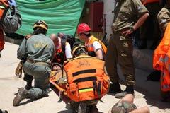 Muertes del ataque del cohete de la invitación de los paramédicos en Carmel Prison Imágenes de archivo libres de regalías