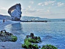 Muertos的海滩从卡沃内拉斯阿尔梅里雅安大路西亚西班牙的 库存图片