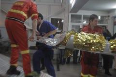 27 muertos en fuego del club nocturno de Bucarest Colectiv Fotos de archivo libres de regalías