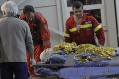 27 muertos en fuego del club nocturno de Bucarest Colectiv Foto de archivo libre de regalías
