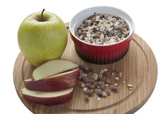 Muesli и яблоко стоковые изображения rf