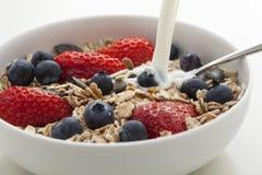 muesli хлопий для завтрака Стоковое Фото