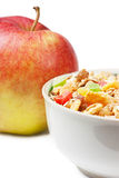 Muesli And Apple Stock Photography