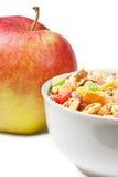Muesli and apple Stock Photography