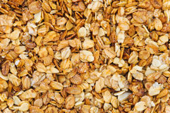 Muesli background. Healthy dietary food Royalty Free Stock Photos