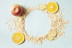 Muesli background stock photo
