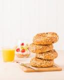 Muesli Bagels for Breakfast Royalty Free Stock Photo