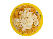 Muesli with banana Stock Image