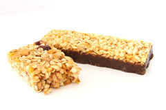 Muesli bar close up Stock Image