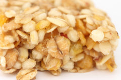 Muesli bar close up Royalty Free Stock Photos