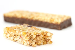 Muesli bar close up Royalty Free Stock Photography