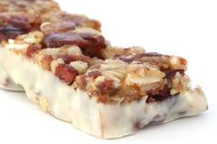 Muesli bar in yogurt Stock Photo