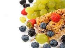 Muesli bars with berries Royalty Free Stock Photography