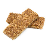 Muesli Bars over White Stock Photos