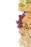 Muesli bars with raisins and oat flakes Royalty Free Stock Photos