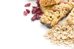 Muesli bars with raisins and oat flakes Stock Image