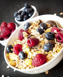 Muesli with Berries for Breakfast Stock Photo