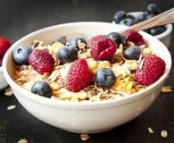 Muesli with Berries for Breakfast Stock Photo
