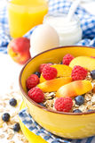 muesli, berries Stock Photos