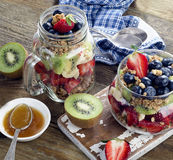 Muesli and berries for healthy diet breakfast Royalty Free Stock Images