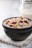 Muesli with berries and milk Royalty Free Stock Photos