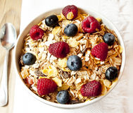 Muesli with Berries Royalty Free Stock Photography