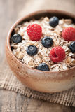 Muesli with berries Royalty Free Stock Images