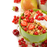 Muesli with berries Royalty Free Stock Photos