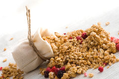 Muesli and berry Stock Images