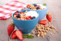 Muesli with berry Royalty Free Stock Photos
