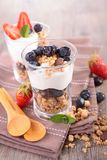 Muesli and berry Royalty Free Stock Images