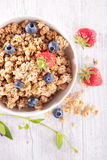 Muesli and berry fruit Royalty Free Stock Image