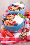 Muesli with berry fruit Royalty Free Stock Photos