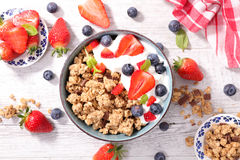 Muesli with berry Royalty Free Stock Image