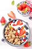 Muesli with berry Royalty Free Stock Photography