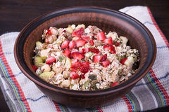 Muesli with berry Stock Photography