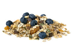 Muesli with Blueberries Stock Image