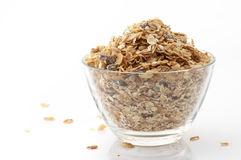 Muesli in bowl Royalty Free Stock Image