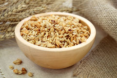 Muesli in bowl Royalty Free Stock Photos
