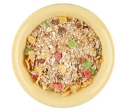 Muesli in bowl Stock Image