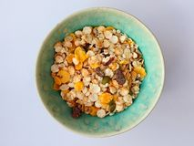 Muesli in Bowl Royalty Free Stock Photography