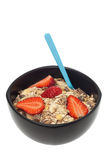Muesli bowl isolated Royalty Free Stock Image