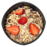 Muesli bowl isolated Stock Images