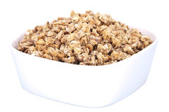 Muesli in a bowl isolated on white background Stock Images