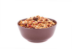 Muesli in the bowl Stock Photography
