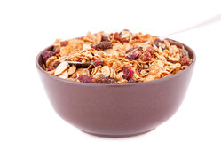 Muesli in the bowl Stock Photo