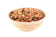 Muesli in the bowl Stock Images