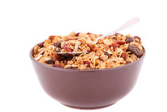 Muesli in the bowl Royalty Free Stock Image