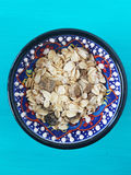 Muesli in a bowl Royalty Free Stock Image