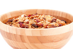 Muesli in the bowl Royalty Free Stock Images